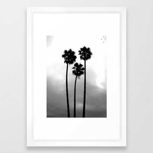 """California Palm Trees Framed Art Print - Vector White Frame - 15""""x21"""" - Society6"""