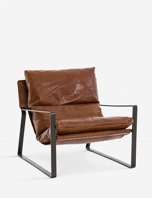 MARLYNE LEATHER ACCENT CHAIR - Lulu and Georgia