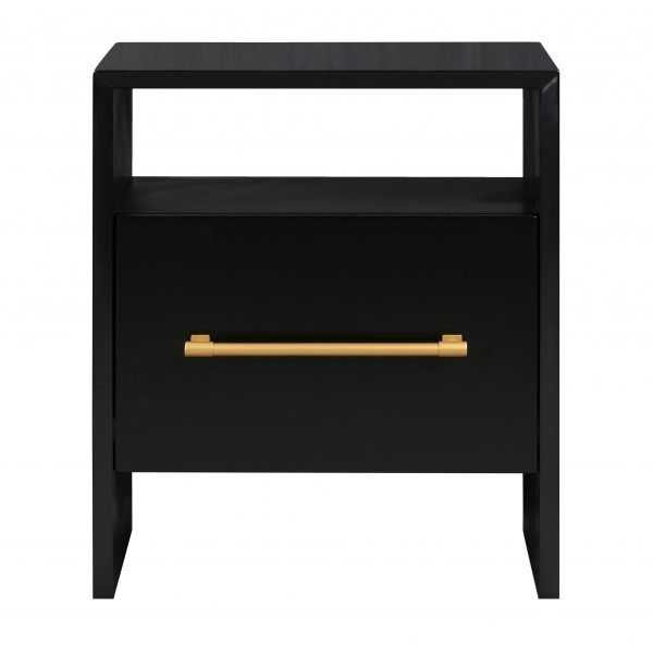 Libre Black Nightstand-Available 09/15 - Maren Home