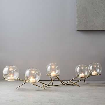 Brass + Glass Globe Centerpiece - West Elm