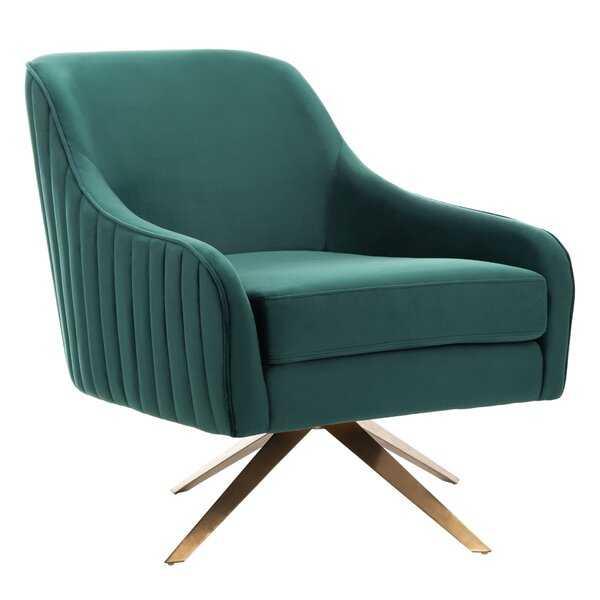 Ussery Channeled Velvet Armchair - Wayfair