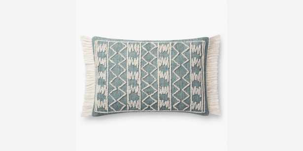 P4097 ED LT. BLUE, Lumbar Pillow w/ Poly Insert - Loma Threads