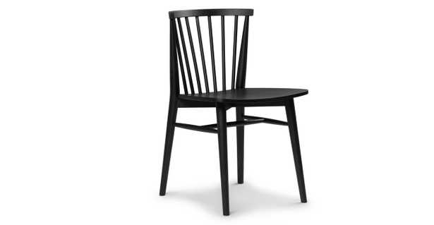 Rus Black Dining Chair, Pair - Article