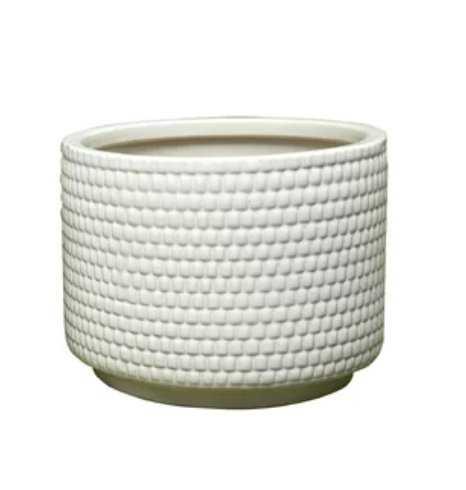 "Lesa Ceramic Pot Planter 10"" H x 13"" W x 13"" D - Wayfair"