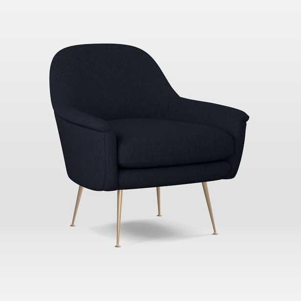 Phoebe Chair, Black Indigo - Twill - West Elm