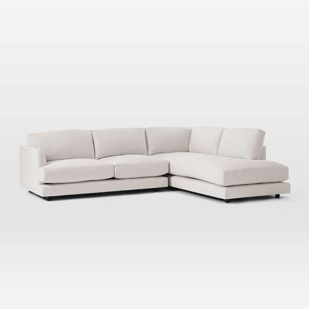 """Haven Sectional Set 01: Left Arm Sofa, Right Arm Terminal Chaise, Poly, Eco Weave, Oyster- standard 40"""" - West Elm"""