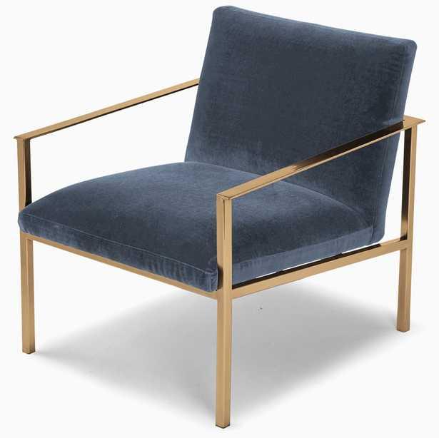 Orla Accent Chair, Milo French Blue - Joybird