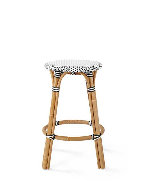 Riviera Backless Counter Stool - Black - Serena and Lily