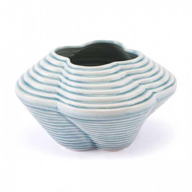 Twisted Sm Vase Blue - Zuri Studios