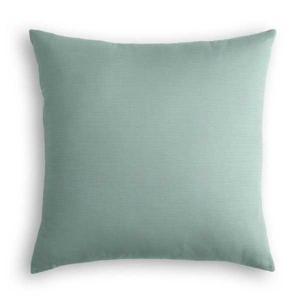 "Outdoor Pillow - Sunbrella® Canvas - Spa - 22""x22"" - Poly Fiber Insert - Loom Decor"