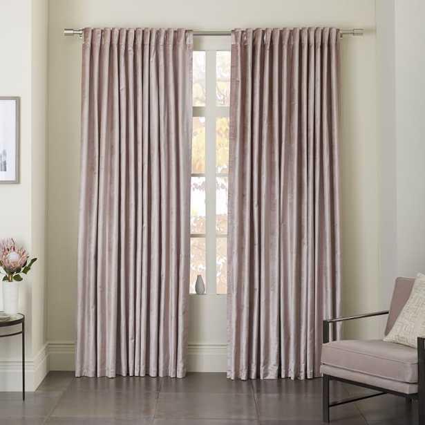 Luster Velvet Curtain - Dusty Blush set of 2 - West Elm