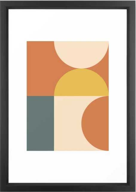 Abstract Geometric 04 Framed Art Print by The Old Art Stud - Society6