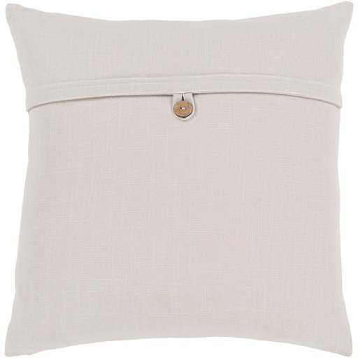 """Perine Pillow Cover, 20"""" x 20"""", Ivory - Cove Goods"""
