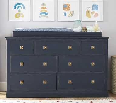 Charlie Extra Wide Dresser & Topper Set, Weathered Navy, Flat Rate - Pottery Barn Kids