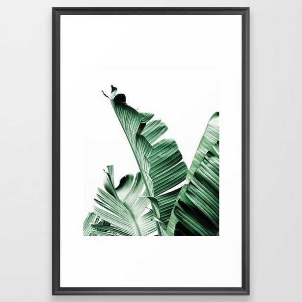 Banana leaf, Plant, Green, Minimal, Trendy decor, Interior, Wall art, Photo Art Print Framed Art Print - Society6