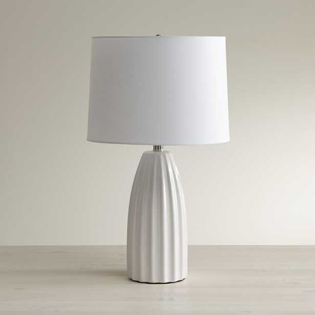 Ella White Table Lamp - Crate and Barrel