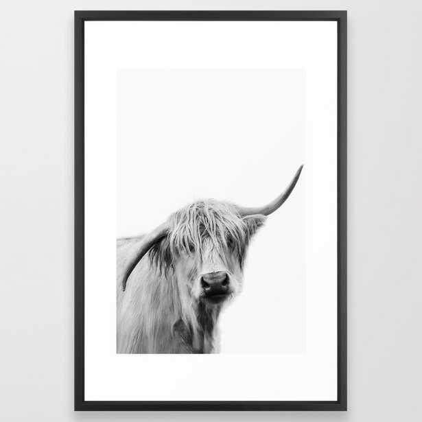 Hey Cow Framed Art Print - Society6