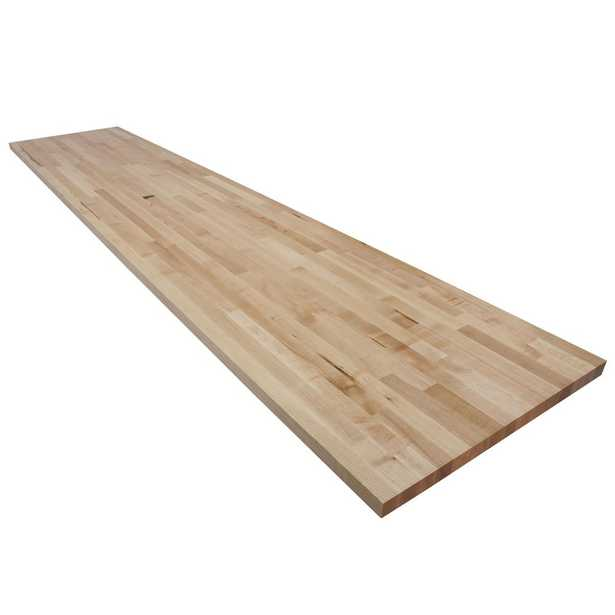 10 ft. L x 2 ft. 1 in. D x 1.5 in. T Butcher Block Countertop in Finished Maple - Home Depot