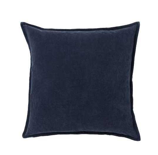 "Eduarda Velvet Cotton Throw Pillow Cover 20"" x 20"" - Birch Lane"
