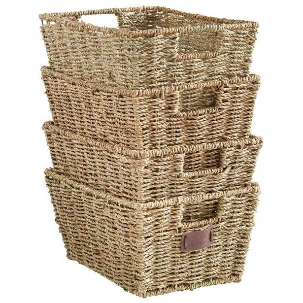 Seagrass Storage Basket, Set of 4 - Wayfair