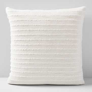 """Soft Corded Pillow Cover, Natural Canvas, 20""""x20"""" - West Elm"""