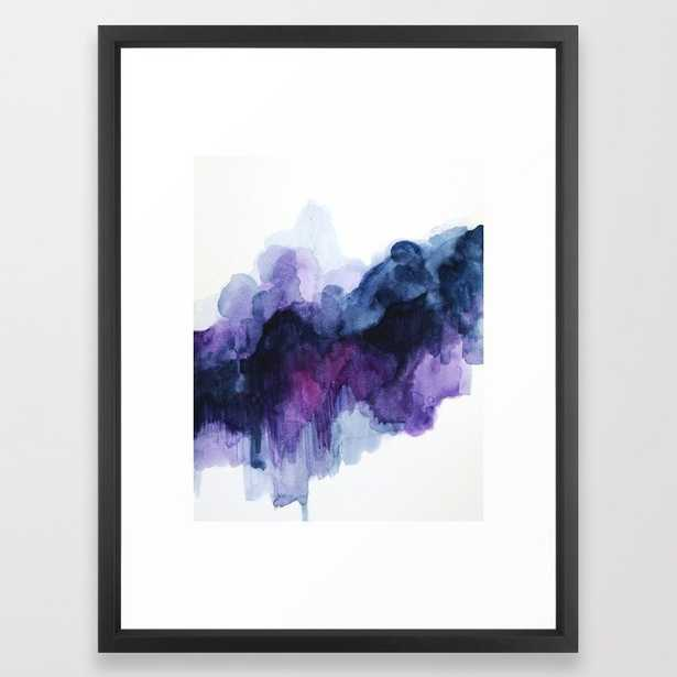 Purple abstract watercolor Framed Art Print - Society6