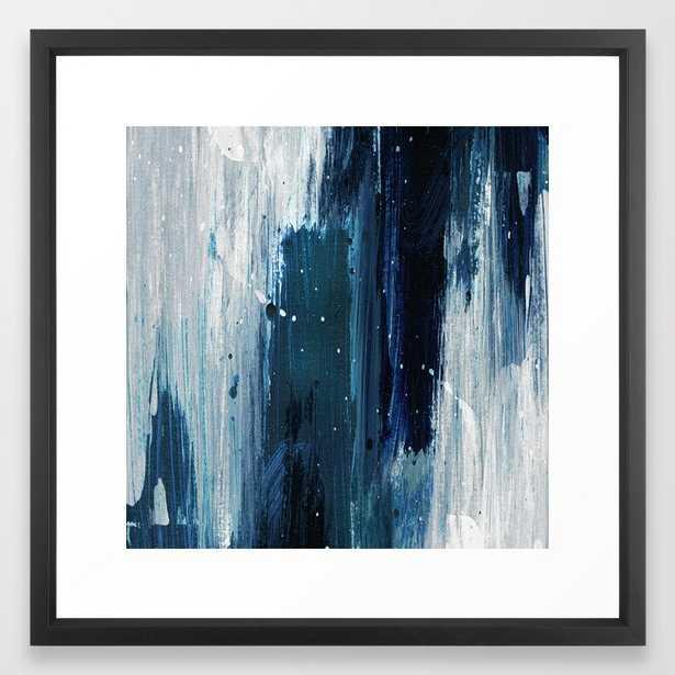Indigo watercolor 2 Framed Art Print- Vector Black Frame 22x22 - Society6