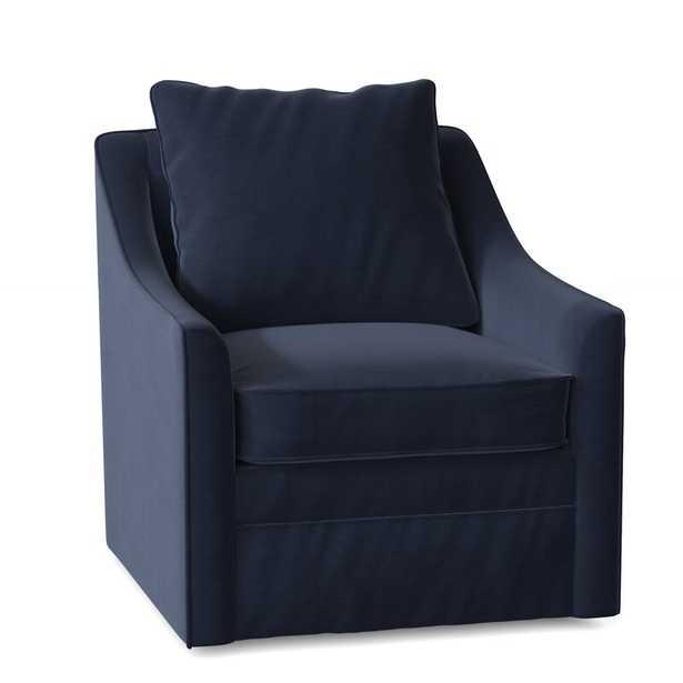 Aaronsburg 30'' Wide Swivel Armchair / Sunbrella® Spectrum Indigo - Wayfair