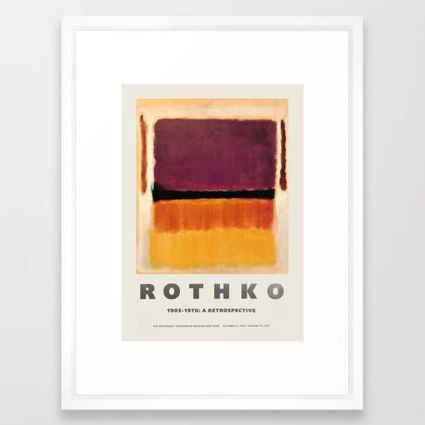 Mark Rothko - Exhibition poster for the Guggenheim Museum, New York, 1970 Framed Art Print - Society6