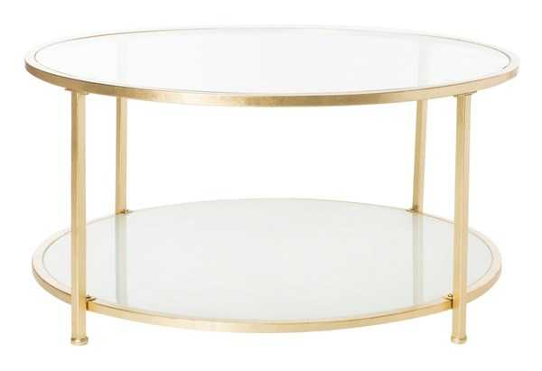 Ivy 2 Tier Round Coffee Table - Clear/Gold - Arlo Home - Arlo Home