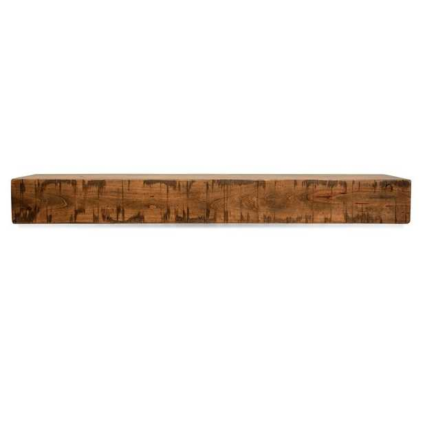 "Rustic Fireplace Shelf Mantel - 60"" - Wayfair"