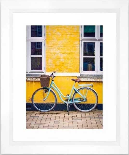 Bike and yellow Framed Art Print - Society6