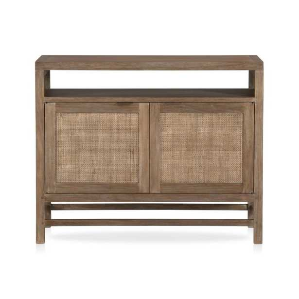"""Blake Grey Wash 42"""" Media Console RESTOCK IN EARLY JUNE,2021 - Crate and Barrel"""