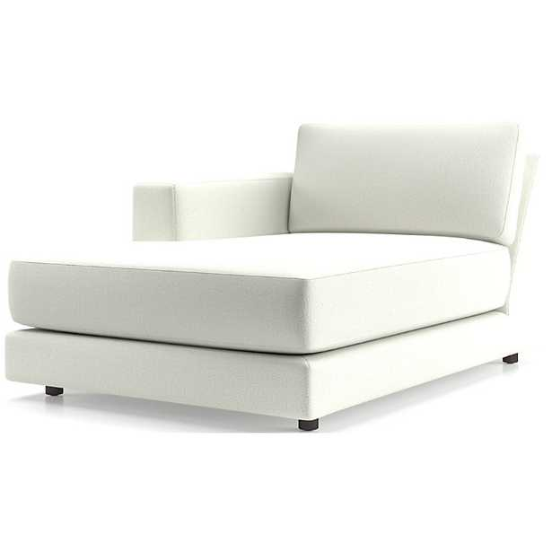 Peyton Left Arm Chaise - Crate and Barrel