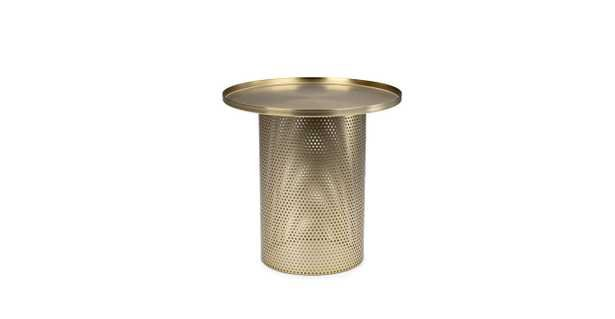 Equa Brushed Brass Side Table - Article