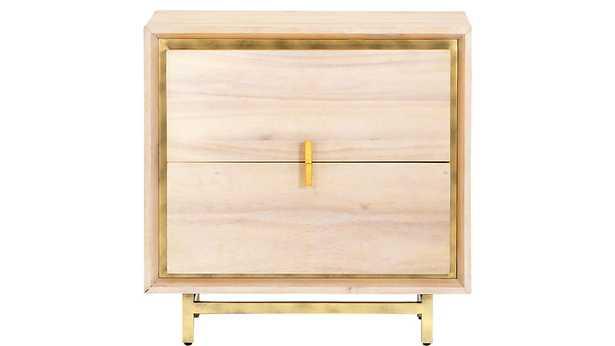 lara acacia nightstand - CB2