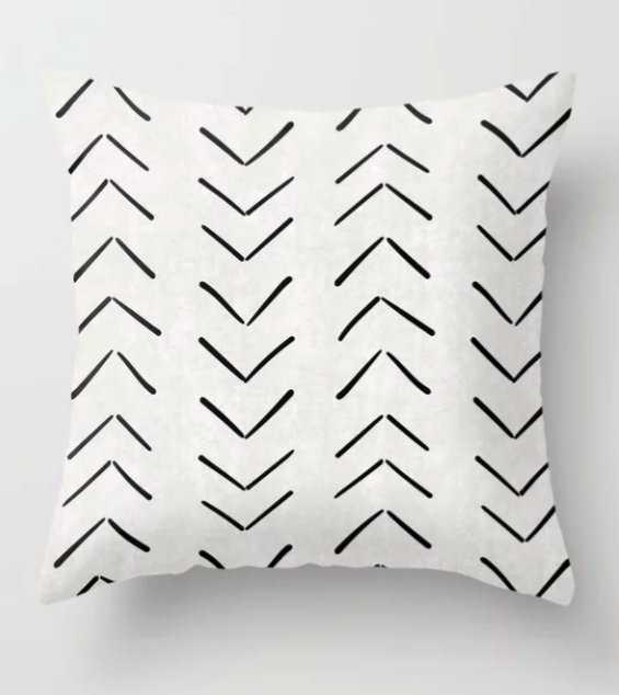 "Mud Cloth Big Arrows in Cream Throw Pillow - 18"" - Society6"