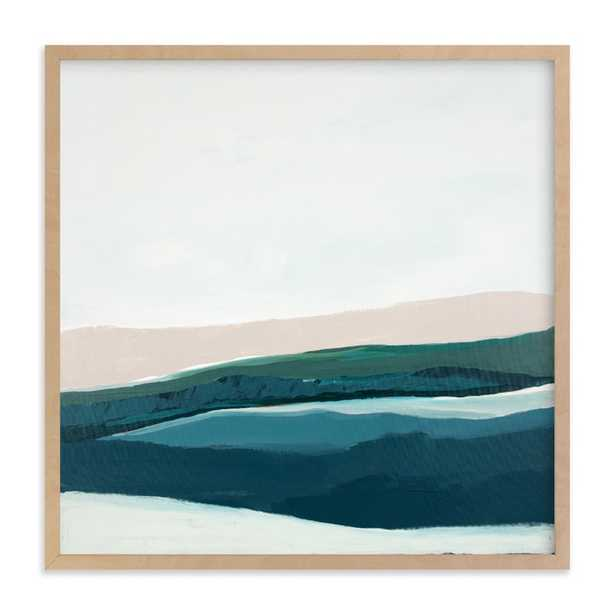 """Seascape at Dusk /  16"""" X 16"""" Natural Raw Wood Frame - Minted"""