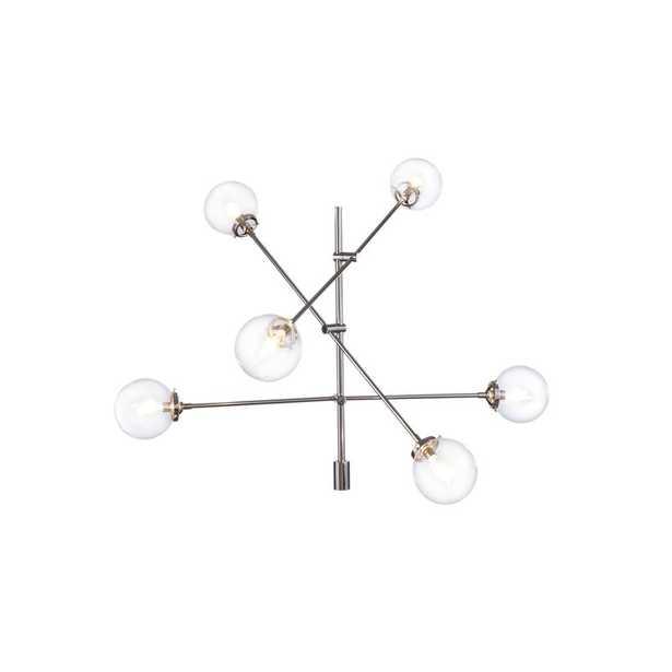 Bailey Antique 6-Light Sputnik Chandelier, Silver - Wayfair