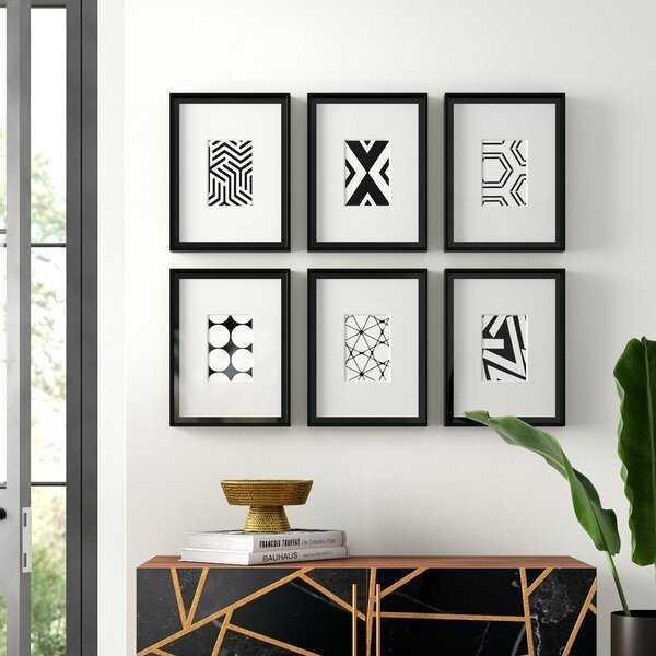 6 Piece Framed Graphic Art Set - Wayfair