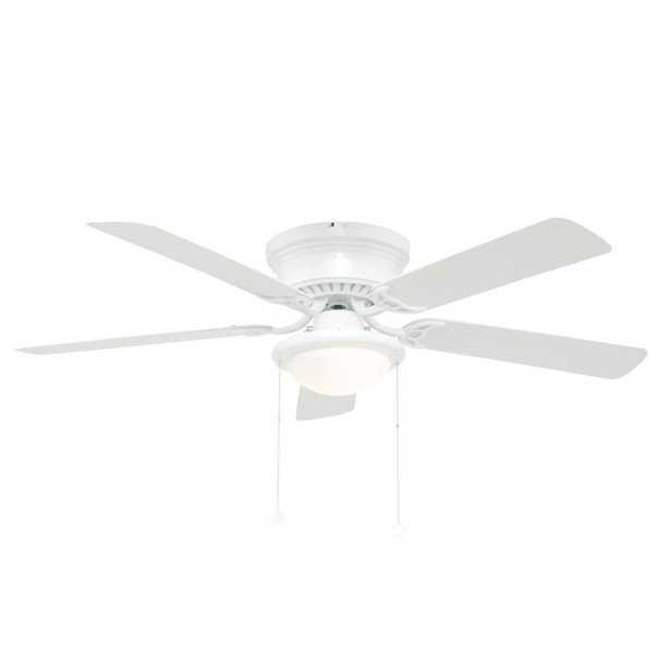 Hugger 52 in. LED Indoor White Ceiling Fan with Light Kit - Home Depot