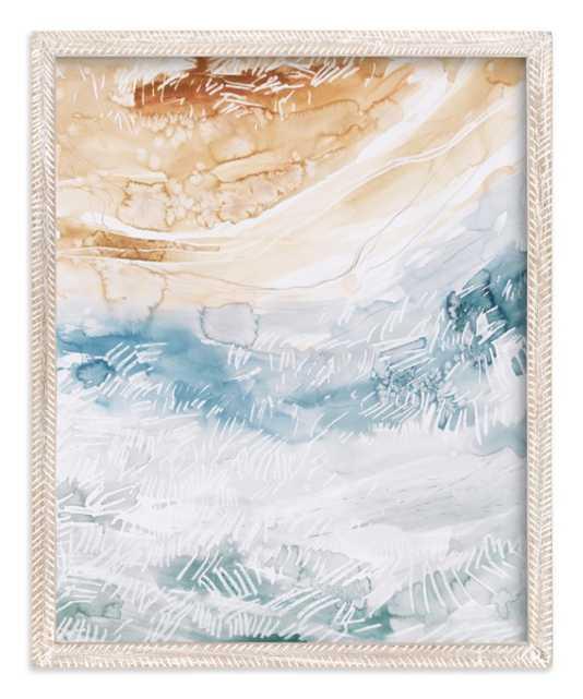 """Sediment No 1 Art Print, 16 x 20, Whitewashed herringbone .75"""" Art Print Frame - Minted"""