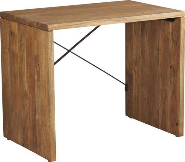 acacia wood console - CB2