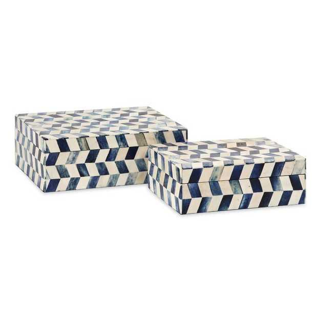 Jordynn 2 Piece Bone Box Set - Wayfair