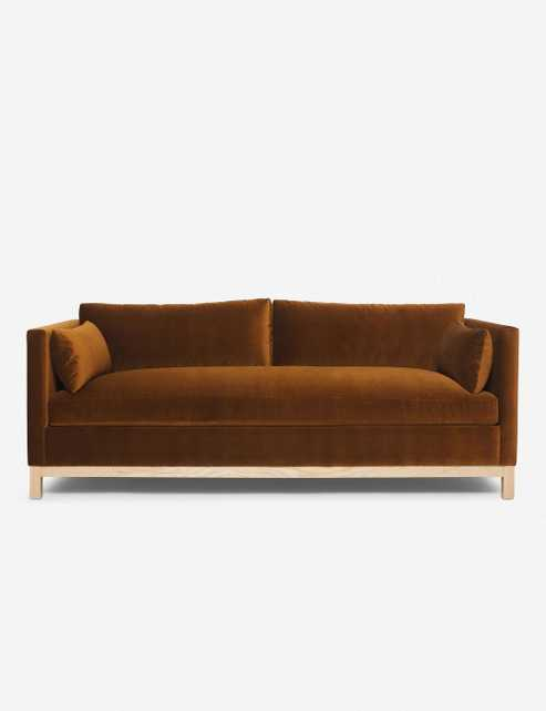 Hollingsworth Velvet Sofa, Cognac By Ginny Macdonald - Lulu and Georgia