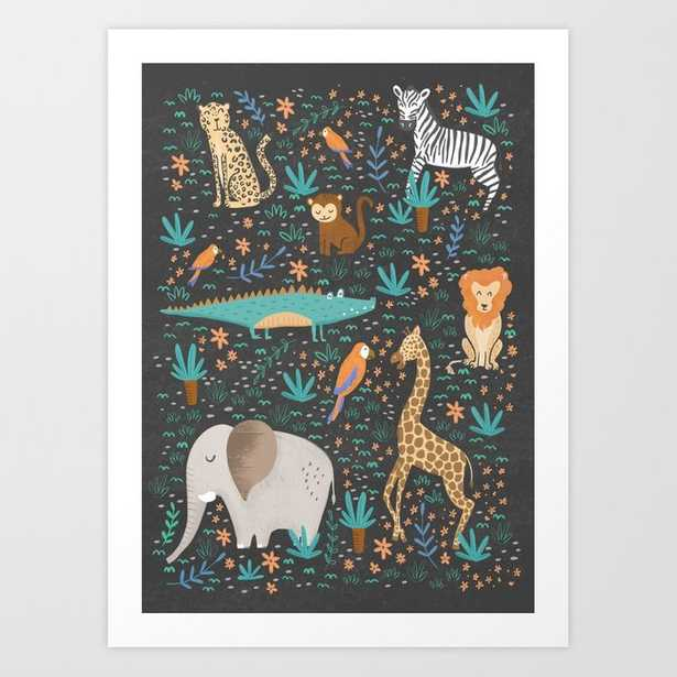 Into the Jungle - Gray Art Print - Society6