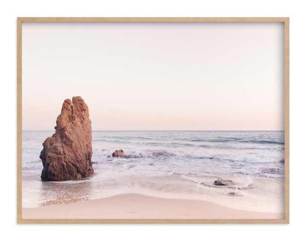 Malibu View No. 2  - Natural Raw Wood Frame no Matte - Minted