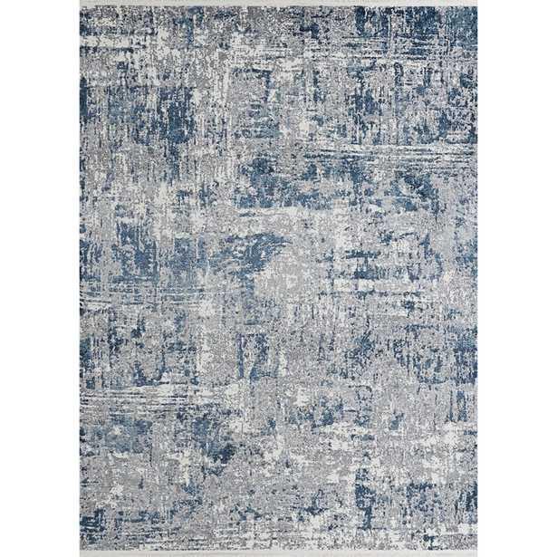 Rectangle 9' x 13' Erdinc Abstract Blue/Gray Area Rug - Wayfair
