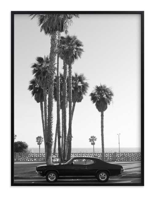"ocean avenue w/ Artist Signature   (30""x40"" Framed) - Minted"