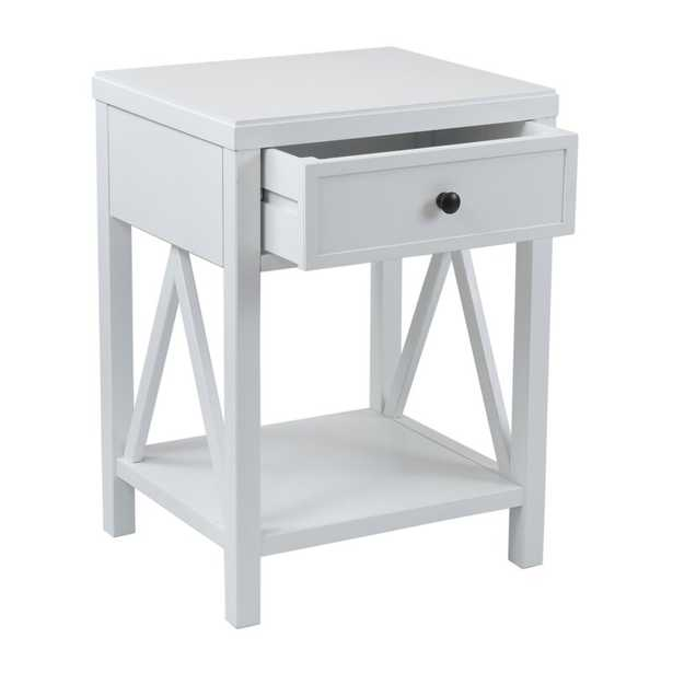 Nadeau Solid Wood End Table with Storage / White - Wayfair